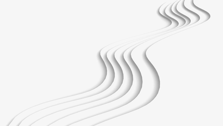 White wave paper background, curved reliefs or steps in 3d render 版權商用圖片
