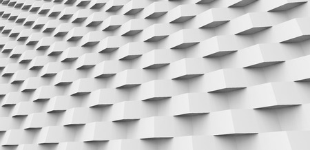 Geometric 3d render background, square pattern construction for design uses