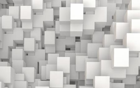 3d geométrica, render, fundo, topo, vista, de, branca, cubos, composto, de, espaço dimensional Foto de archivo - 94312471