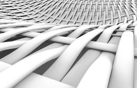 Blank fiber surface, interlaced structure pattern in 3d render, twilled dutch Foto de archivo - 97268637