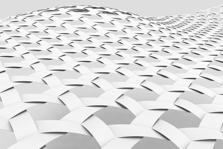 Blank Fiber background, 3d render interlaced weaving fabric, Triaxial Woven, close up look Foto de archivo - 97268803