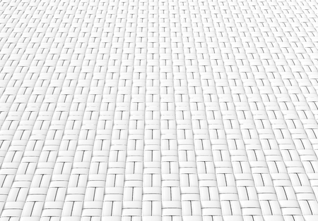 Blank microfiber surface, white fiber textile and structure in 3d render, basket weave Foto de archivo - 97268804