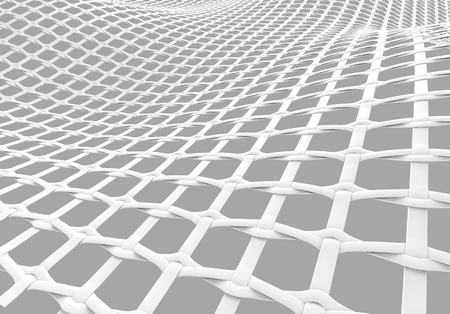 Blank microfiber surface, white fiber textile and structure in 3d render, leno weave Foto de archivo - 97268830