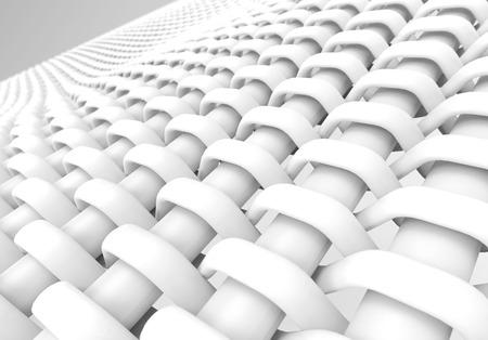 Blank microfiber surface, white fiber textile and structure in 3d render, plain dutch weave Foto de archivo - 97268888