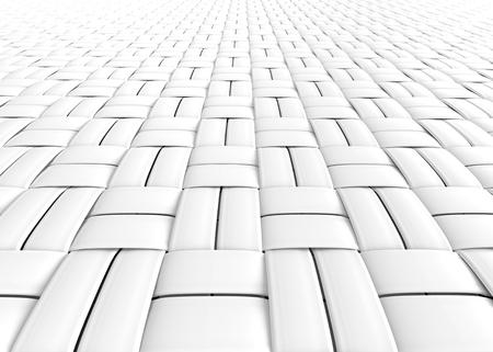 Blank microfiber surface, white fiber textile and structure in 3d render, basket weave Foto de archivo - 97268972
