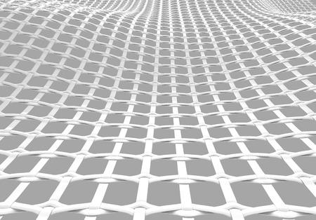 Blank microfiber surface, white fiber textile and structure in 3d render, leno weave Foto de archivo - 97269009