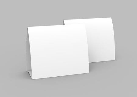 photo regarding Printable Tent Cards titled Blank paper tent template, white tent playing cards preset with vacant Room..