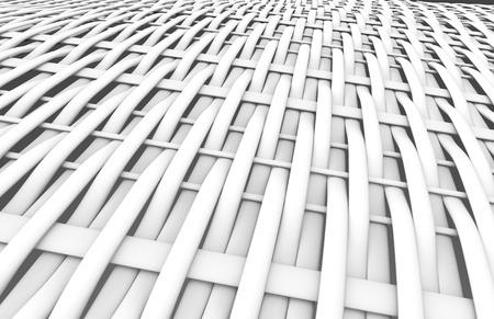 Blank fiber surface, interlaced structure pattern in 3d render, twilled dutch Foto de archivo - 97269015