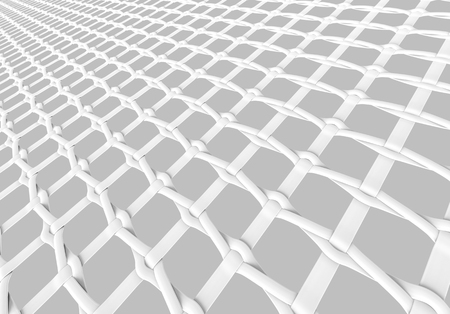 Blank microfiber surface, white fiber textile and structure in 3d render, leno weave Foto de archivo - 97269171