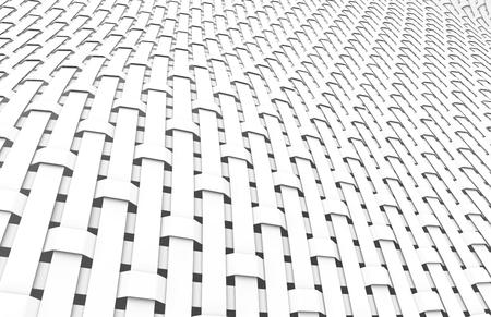 Blank fiber surface, crowfoot satin weave pattern in 3d render Foto de archivo - 97269229