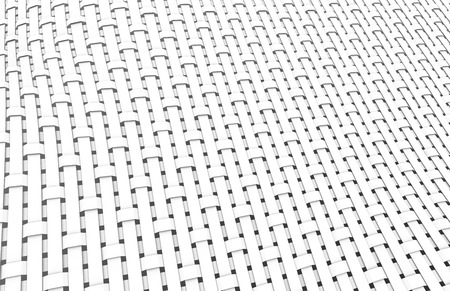 Blank fiber surface, crowfoot satin weave pattern in 3d render Foto de archivo - 97269240