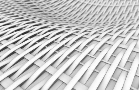 Blank fiber surface, interlaced structure pattern in 3d render, twilled dutch Foto de archivo - 97269429