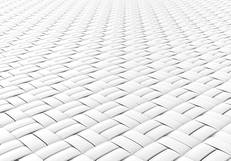 Blank microfiber surface, white fiber textile and structure in 3d render, basket weave Foto de archivo - 97269577