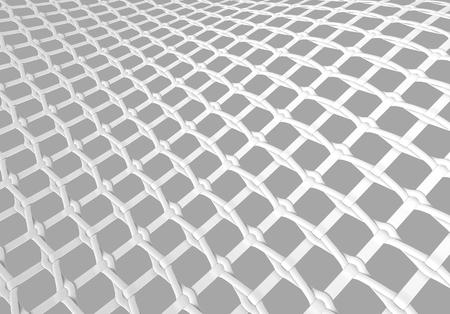 Blank microfiber surface, white fiber textile and structure in 3d render, leno weave Foto de archivo - 97269623