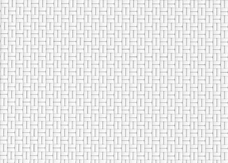 Blank microfiber surface, white fiber textile and structure in 3d render, basket weave Foto de archivo - 97269676