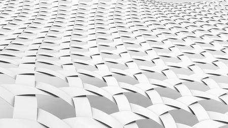 Blank Fiber background, 3d render interlaced weaving fabric, Triaxial Woven, close up look Foto de archivo - 97269733