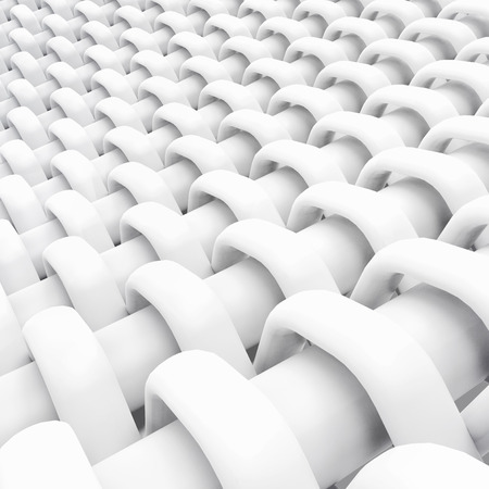 Blank microfiber surface, white fiber textile and structure in 3d render, plain dutch weave Foto de archivo - 97269808