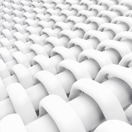 Blank microfiber surface, white fiber textile and structure in 3d render, plain dutch weave 版權商用圖片