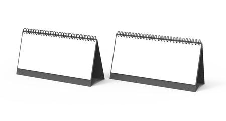 Blank desk calendar, 3d render calendar mockup with empty space for design uses, long design set Banco de Imagens - 98703337