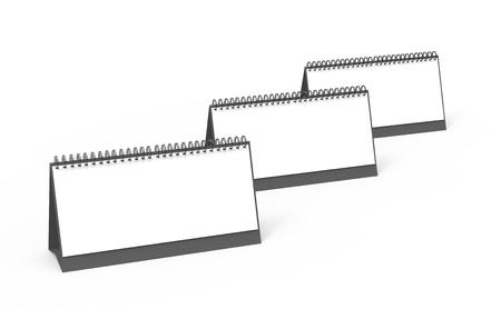 Blank desk calendar, 3d render calendar mockup with empty space for design uses, long design set Banco de Imagens - 98703674