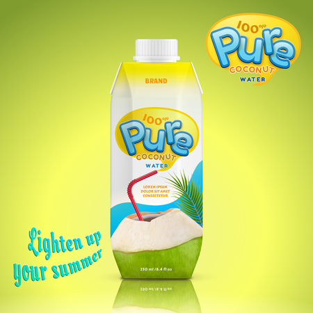 Coconut water drink package design Banque d'images - 100527313