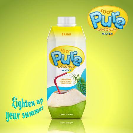 Coconut water drink package design