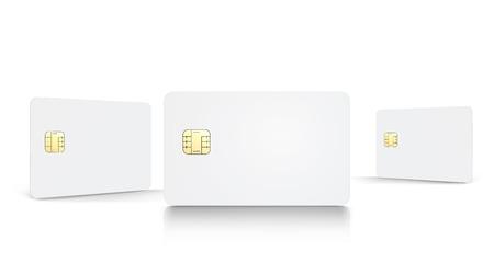 Blanco chipkaarten set Vector Illustratie