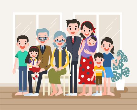Happy family portrait Stock fotó - 100528870