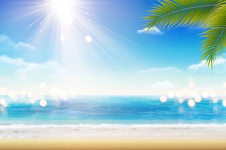 Summer resort scenery Illustration