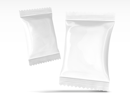 Blank snack packages design