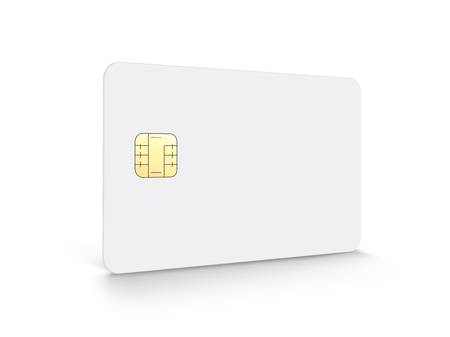 Blank chip card with copy space in 3d illustration 向量圖像