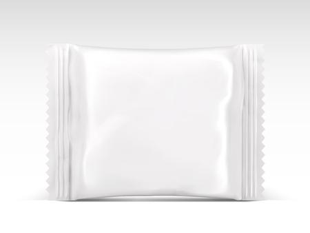 Blank snack package design