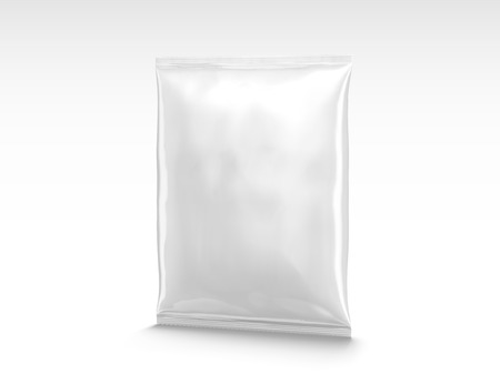 Blank chip package design in 3d illustration isolated on white background