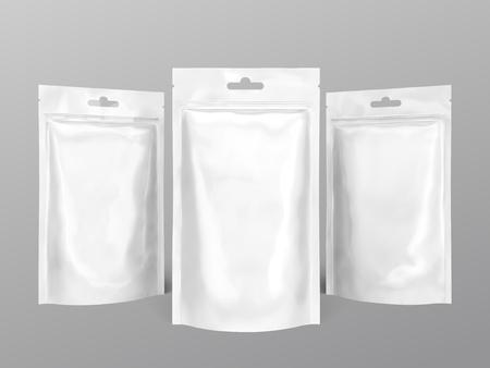 Pearl white foil pack for design uses in 3d illustration