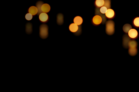 Black glamour bokeh background with copy space