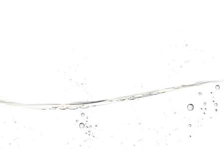 Surface transparente de l'eau avec des bulles sur fond blanc en illustration 3d Vecteurs