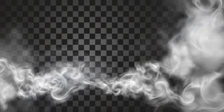 Humo flotando en el aire en la ilustración 3d sobre fondo transparente