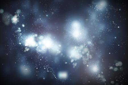 Fondo de universo brillante con estrellas y partículas Ilustración de vector