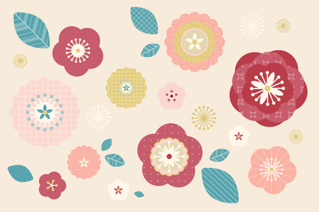 Lovely flowers pattern in pastel color for design uses