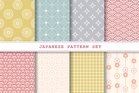 Japanese pattern set collection for design uses