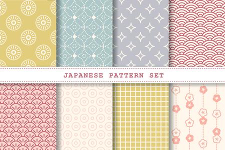 Japanische Musterset-Kollektion für Designzwecke