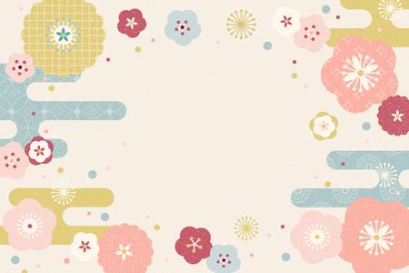 Schönes flaches Design blüht Hintergrund mit Kopienraum