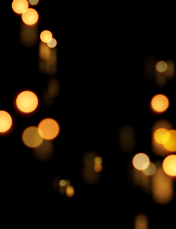 Bokeh glowing background with warm orange color Illustration