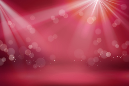 Abstract red bokeh glittering background