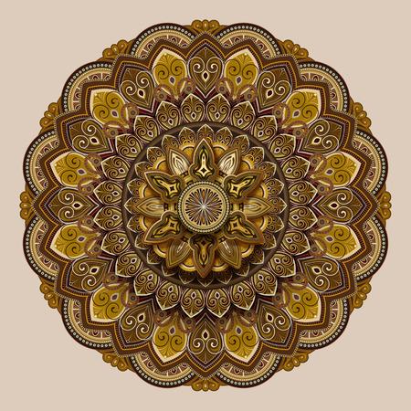 Conception de modèle de motif de fleur dans le ton de la terre