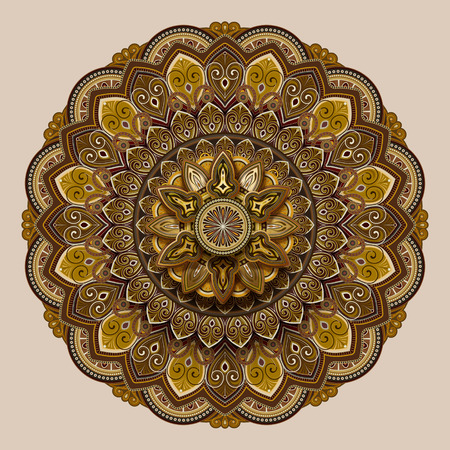 Flower motif pattern design in earth tone