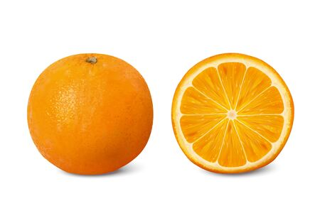 Delicious citrus 3d illustration on white background Foto de archivo - 133315355