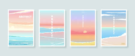 Cover design in the concept of seascape with paper torn effect, applicable to meditation, holiday and vacation promotion Stock Illustratie