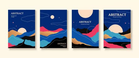 Cover design with amazing night landscapes in contrast color, applicable to poster, flyer and event promotion