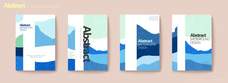 Simplicity iceberg flyer set in cold blue and mint color Stock Illustratie
